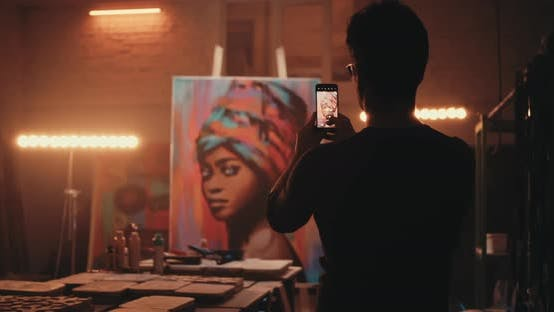Thumbnail for Anonymous Painter Taking Photo Artwork