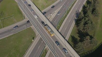 Car Traffic On Highway Junction
