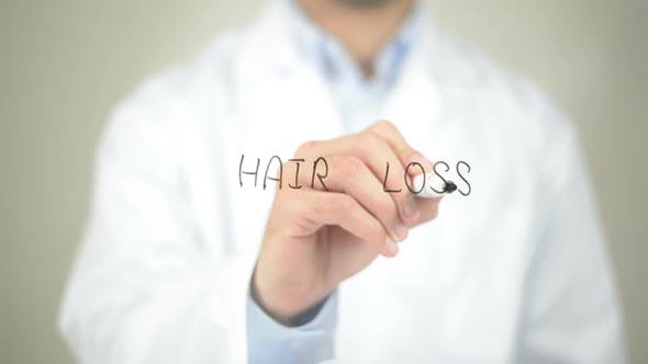 Thumbnail for Hair Loss, Doctor Writing on Transparent Screen