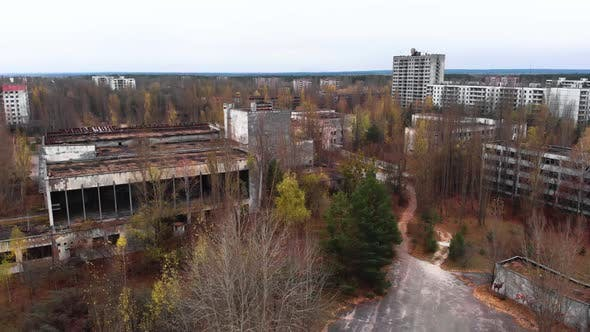 Thumbnail for Chernobyl Exclusion Zone. Pripyat. Aerial