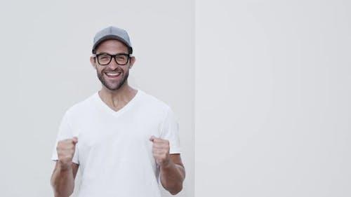 Thumbs Up Guy In Cap