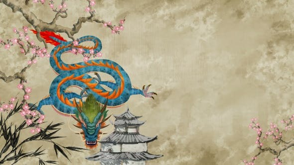Thumbnail for Chinese Dragon Painting 02