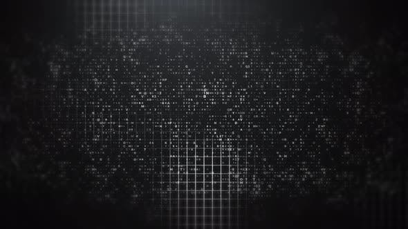 Thumbnail for Abstract Technology Crypto Grid Color Grade