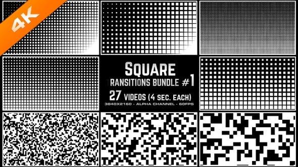 Thumbnail for Square Transitions Bundle 1 - 4K