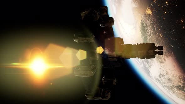 Thumbnail for International Space Station Over the Planet Earth