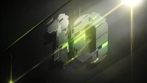 3D Plates Countdown Green