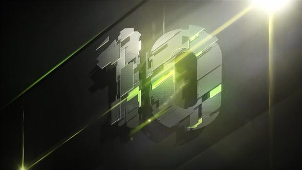 Thumbnail for 3D Plates Countdown Green