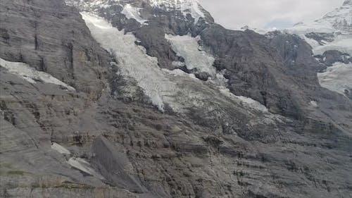 Pan of Eiger Glacier in the Bernese Alps Switzerland