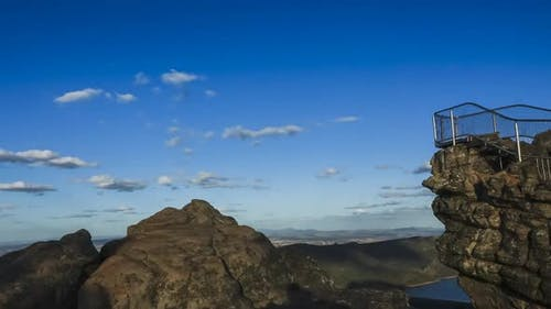 Pinnacle mountain top in Australia timelapse