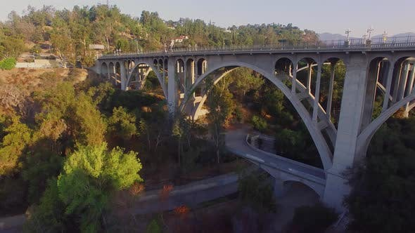 Thumbnail for Aerial Of A Freeway And Bridge