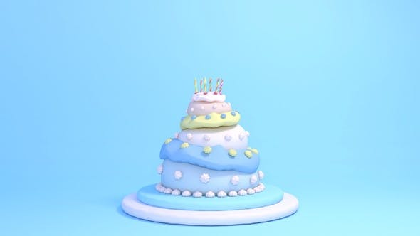 3 Etagen Geburtstagskuchen II