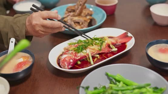 Thumbnail for Chinese family dinner at home