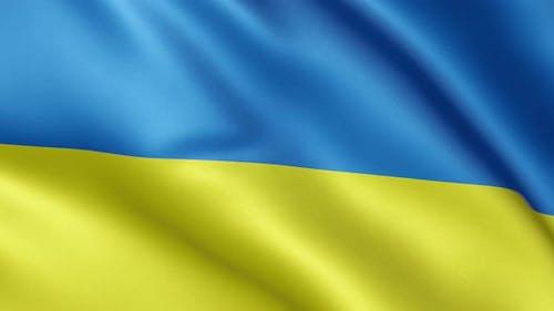 Ukrainian flag | Flag of Ukraine | UHD | 60fps