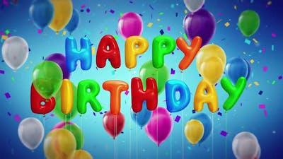 Happy Birthday Celebration With Confetties