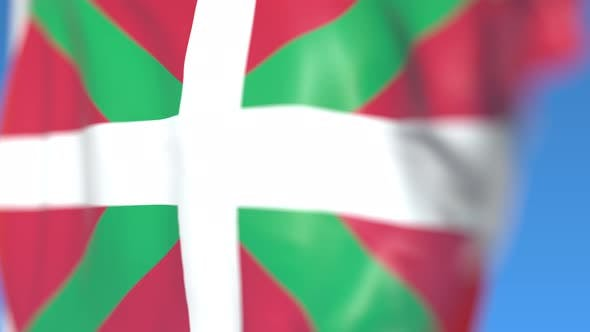 Thumbnail for Waving Flag of Basque Country in Spain
