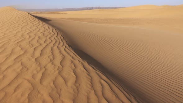 Thumbnail for Desert Sand Blowing Over Sand Dunes in Wind