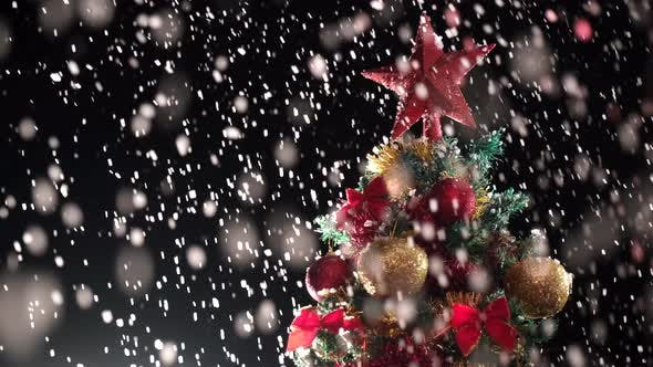 Thumbnail for Christmas Tree Snow Falling