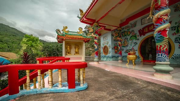 Thumbnail for Chinese Temple in Kho Phangan Island. Timelapse