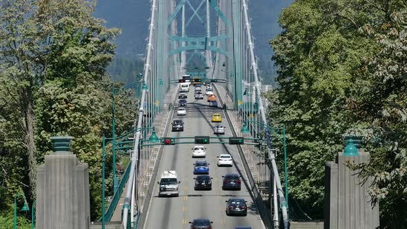 Thumbnail for Vancouver City - Lions Gate Bridge - Summer Traffic