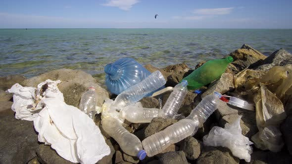 Thumbnail for Dirty Plastic Bottles on the Stone Beach
