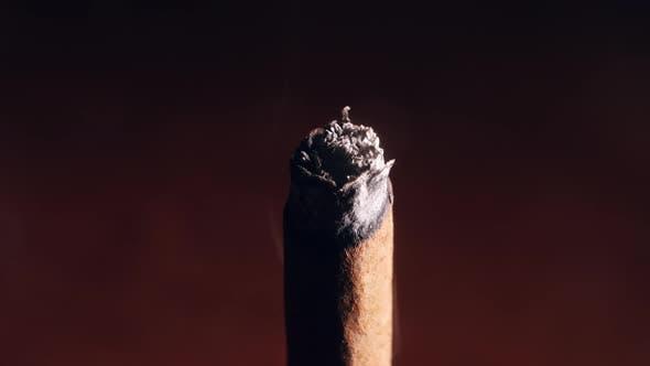 Cigarette Smokes in Macro Slow Motion