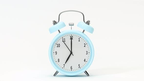 Thumbnail for Classic alarm clock, alarming at 7 o 'clock.