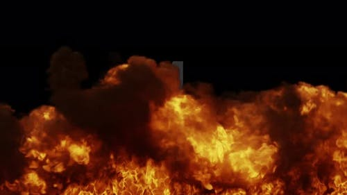 Flame Smoke Wall Transition 1080p