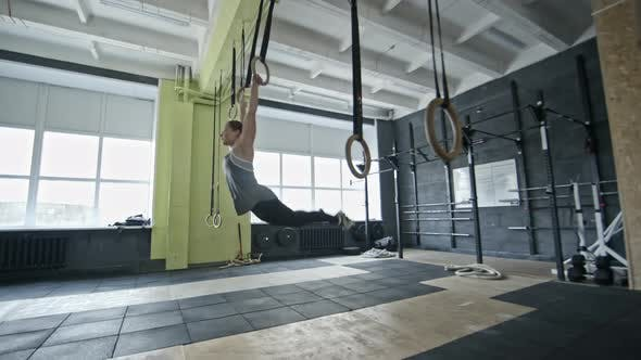 Thumbnail for Woman Doing Pull-Us on Gymnastic Rings