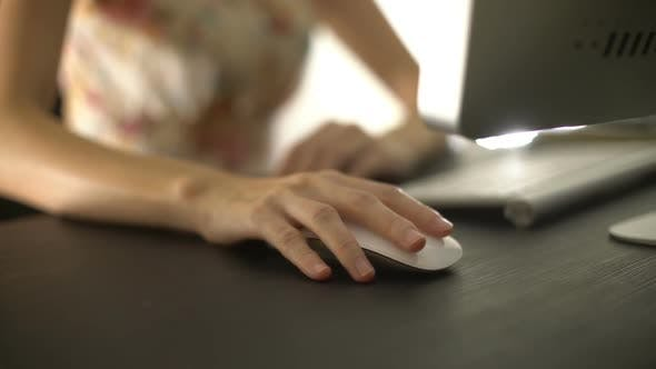 Thumbnail for Female Use Computer Mouse