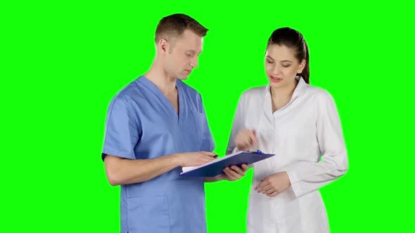 Thumbnail for Two Doctors Shake Hands. Green Screen