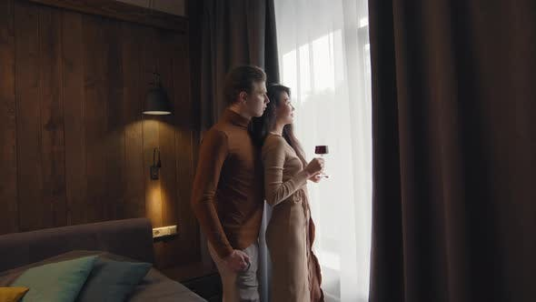 Thumbnail for Romantic Couple On Date In Hotel