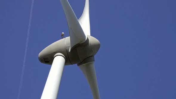 Thumbnail for Windmill or Wind Turbine Closeup in Rotation