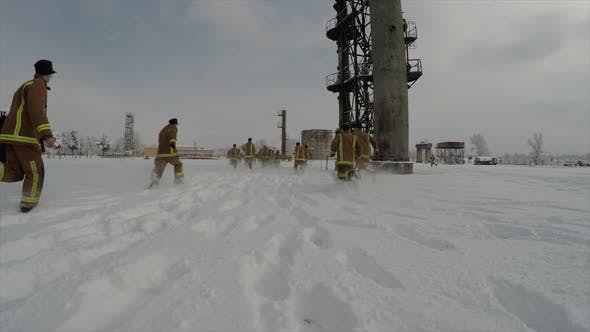 Thumbnail for Firefighters   Training On Snow