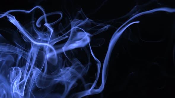 Abstract White Smoke on Black Background, Smoke Background ,Blue Smoke Background