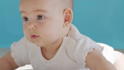 Closeup Portrait a Infant Girl
