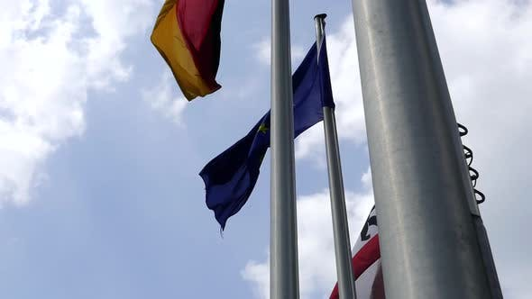 Thumbnail for Flags On Poles - EU, Germany, Berlin