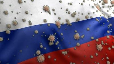 Covid Russia Flag / Corona Russia Flag