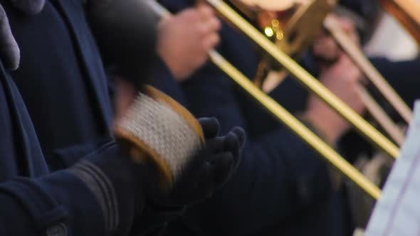 Thumbnail for Brass Band Actively Performing Funny Melodies, Entertaining and Pleasing Public