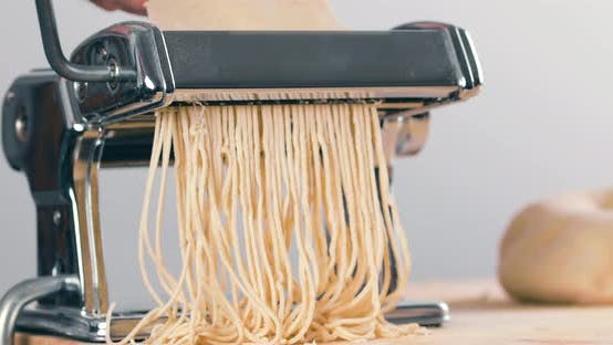 Thumbnail for Homemade Italian Pasta Spaghetti with the Machine