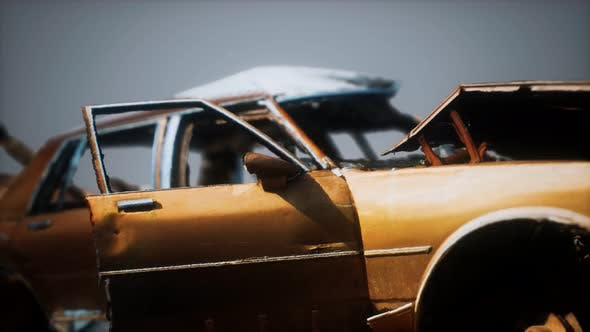 Thumbnail for Old Rusted Crushed Car