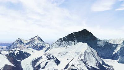 Himalayas Mount Everest Aerial View
