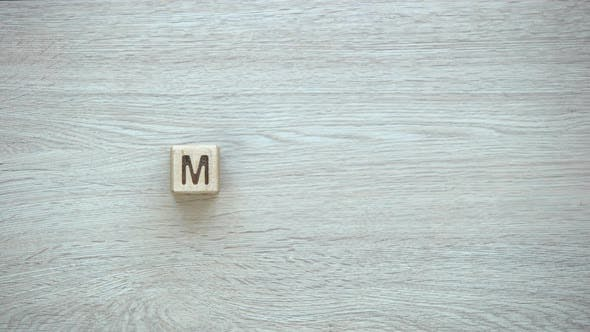 Thumbnail for Money, Stop Motion Word on Wooden Cubes, Savings and Budget Planning, Profit