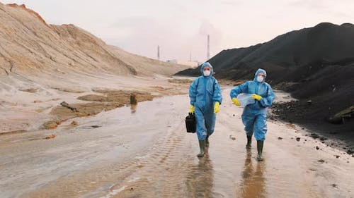 Ecology Inspection Of Nuclear Pollution In Town