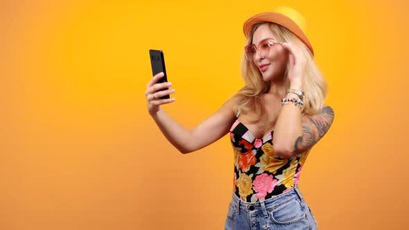 Thumbnail for Beautiful Gorgeous Sexy Blonde Takes a Selfie