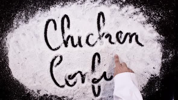 Cover Image for Salt Writing Black   Chicken Confit
