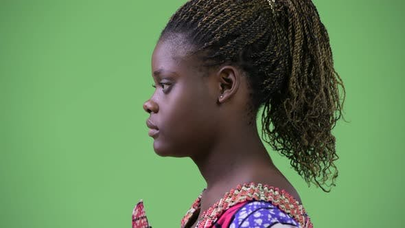Thumbnail for Profile View of Young African Woman