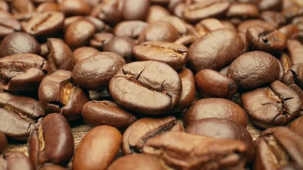 Thumbnail for Close-up, Smooth Moving Roasted Coffee Beans