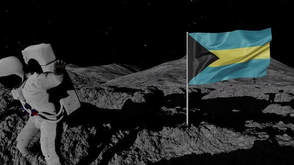 Thumbnail for Astronaut Planting Bahamas Flag on the Moon