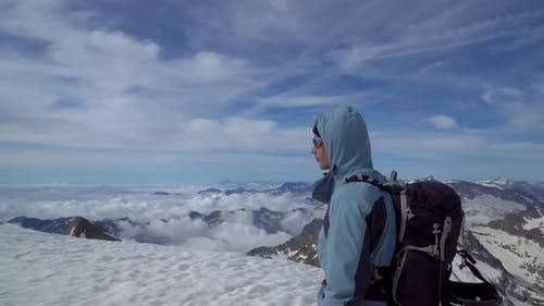 Mountaineer in the Alps