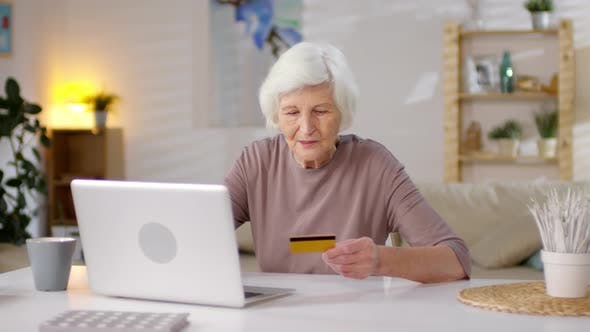 Thumbnail for Retired Woman Shopping Online on Computer